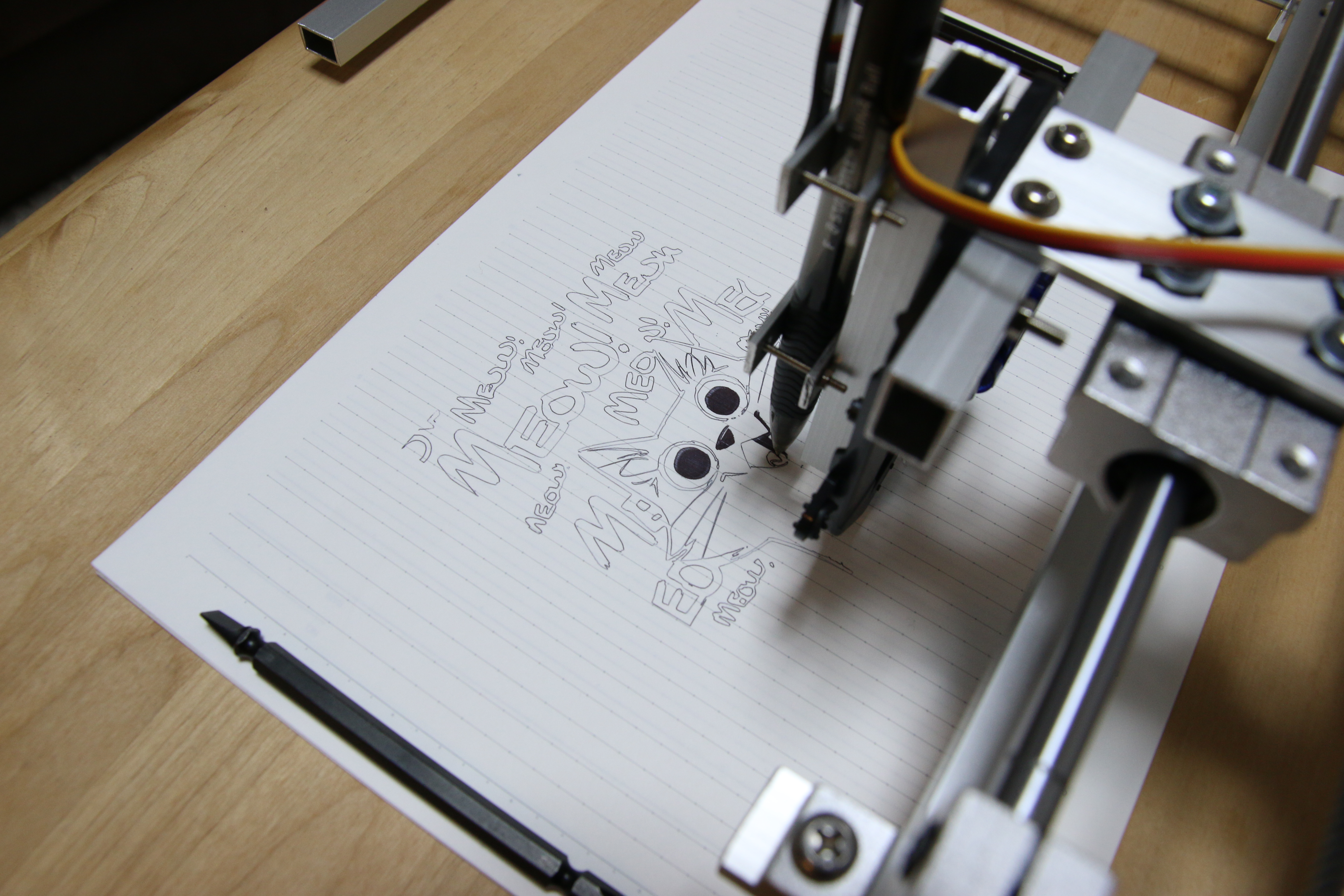 Scrappy Arduino Pen Plotter With Nema17 Steppers